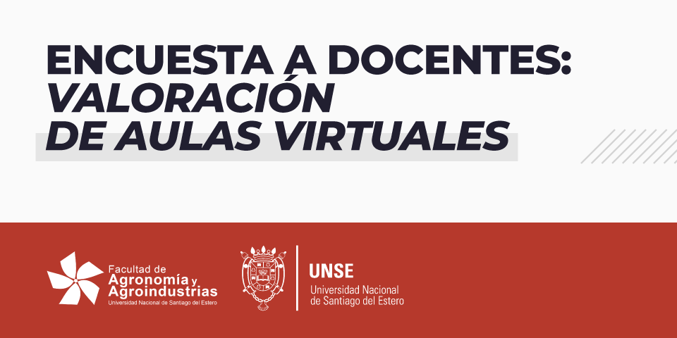 Encuesta a Docentes Valoración de Aulas Virtuales de la FAyA UNSE